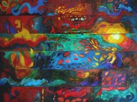 """Abstraction 2"" 2012, Huile sur lin, 117x89 cm"