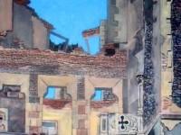 """""""Entropie 1"""" 2010, Huile sur lin, 50x150"""