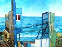 """San Cristobal"" 2007, Oil on canvas, 79"" x 20"""