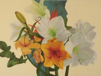 """Bouquet"" 2011, Oil on canvas, 46"" x 29"""