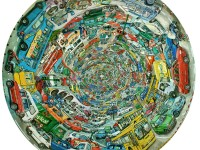 """""""La Guagua"""" 2006, Huile sur toile, 45cm"""