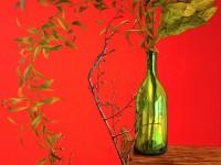 """""""Ventana y cielo azul en mi habitación de paredes blancas"""" 2012, Oleo sobre lino, 116x73cm"""